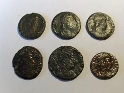 Constantius II. redukált follis 6db-os tétel