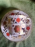 Meseszép angol cappuccino csésze+alj Royal Crown Derby englis bone china A. 962 XXXVIII. A S ritka