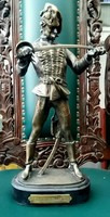 Kisfaludy Strobl Zsigmond - Hadik huszár bronz szobor