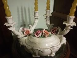 Ens rózsás porcelán szett