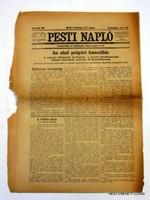 ÚJSÁG RITKASÁG! PESTI NAPLÓ 1917 július 15 RÉGI EREDETI MAGYAR ÚJSÁG 1557