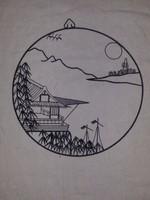 Kínai kerek drótkép