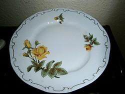 Zsolnay sárga rózsás  mintával tányér