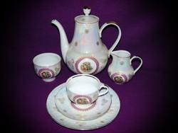 Ilmenau Graf von Henneberg Porzellan 1777 5 személyes aranyozott porcelán kávéskészlet teáskészlet