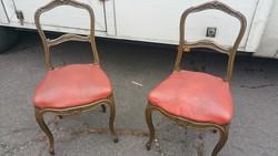 Antik Francia barokk bőr székek!