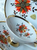 Gyönyörű Bavaria porcelán reggeliző szett, kávés szett, csésze