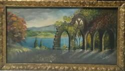 Kiárusítás - Antik szignált festmény
