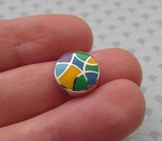 Nyári akció! Csak 7 napig !! - 35 % Ezüst kör alakú medál zománc díszítéssel - új ékszer
