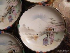 RITKA!  ANTIK  tojáshéj porcelán tányérok,  10 db