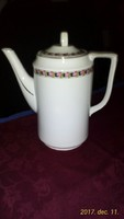 Rózsagirlandos  modern vonalú porcelán teás kanna, kiöntő 1-1,5 literes