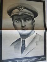 NAGYBÁNYAI HORTHY ISTVÁN HALÁLA 1942 NAGY MÉRETŰ KÉPES ÚJSÁG KÜLÖNSZÁM 40 X 29 cm