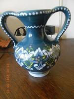 Gmundner kerámia váza, kézzel festett.
