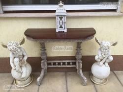 Provence bútor, antikolt konzol asztal 03.