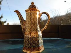 BEJARONG-dombor színes zománc és arany díszítéssel-tea kiöntő-27 cm