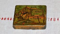 Régi egyiptomi fém cigarettás doboz, pléh doboz