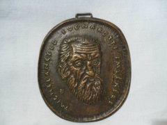 0130 D2 Percz János bronz plakett MICHELANGELO