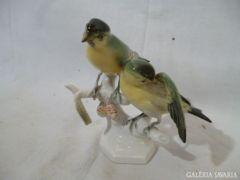 1089 H3 Volkstedter német porcelán madár pár