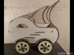 2464 T34 Antik rolós retro babakocsi 50-es évek