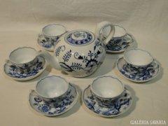 3789 Antik meisseni 6 személyes teás készlet 13 db
