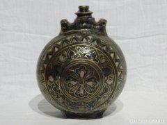 5146 Antik családjegyes Zsolnay kulacs