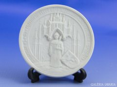 6732 Meisseni kétoldalas porcelán plakett