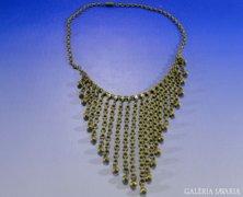 0A492 Antik réz bizsu női nyaklánc nyakék