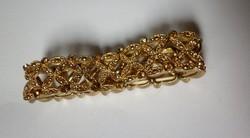 Aranyszínű retró ezeköves karkötő