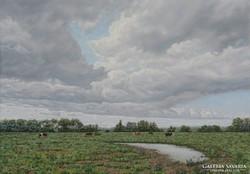 Felhők a legelő felett
