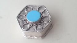 Ezüst dobozka türkizzel díszítve 925