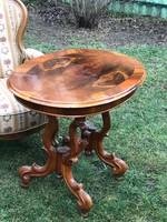 Bieder szalon asztal Diógyökér berakásos Nagyon jó állapotban Póklábú