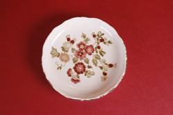 Zsolnay ékszertartó tálka virágos mintával