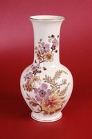 Zsolnay virágos váza (26,5 cm magas)