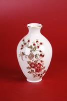 Zsolnay virágos váza (14,5 cm magas) - HIBÁTLAN