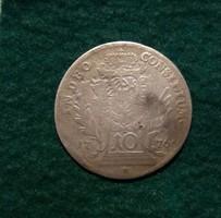 III. Joseph szép bajor 10 krajcárosa 1776 , 3,2 g.