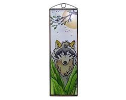 Farkas - Vadászat - Kézzel festett üveg