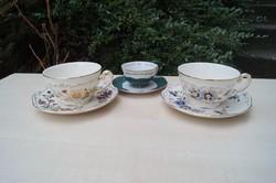 Zsolnay 3 db csésze, 2 teás és 1 kávés