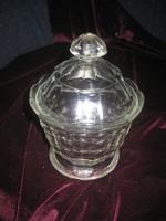Üveg  bonbonier  a 60 as évekből  15x10 cm