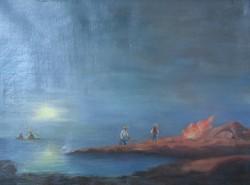 Ismeretlen festő: Éjszakai halászat után (20. század első harmada)
