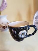 Antik ritka kézzelfestett lepkés csésze