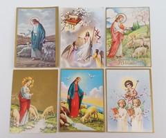 Régi húsvéti képeslap 6 db