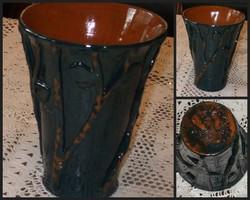 Népi kerámia váza. 17 cm. Ritka