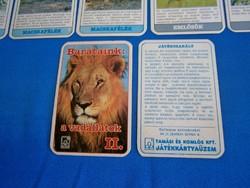 Retro játék kártya kvartett: Barátaink a vadállatok 2.