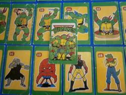 Retro játék kártya kvartett: Tini nindzsa teknőcök