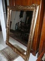 Nagyon nagy, antik hibátlan blondel keretes fali tükör eladó