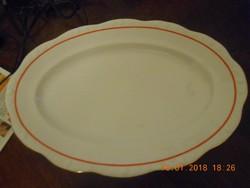 Antik Zsolnay porcelán sültes, húsos, pecsenyés tál 38 cm / Éva sorozat