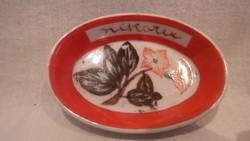Pajzspecsétes Zsolnay porcelán Lengyel Piroska tálka