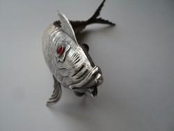 Ritka különleges  filigrán ezüst hal