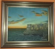 Szarka Árpád Mediterrán festménye