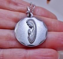 Csodálatos antik art deco Mária ezüstnyaklánc