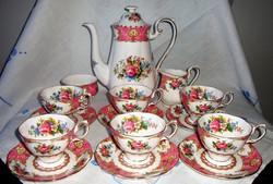 Kuriózum! Extrém ritka 6szem. komplett  Angol Royal Albert Lady Carlyle  teás/kávés/sütis porcelán